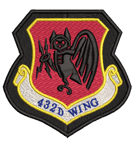 432D Wing Patch - Black background - Reaper Patches