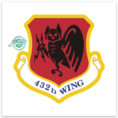 432d Wing- Sticker (ZAP)