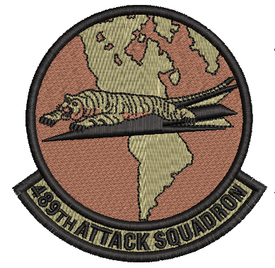 489th Attack Squadron -  OCP - Reaper Patches