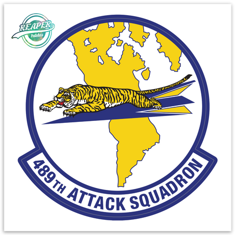 489th Attack Squadron- Zap - Reaper Patches