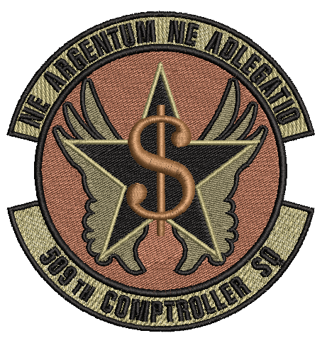 509th Comptroller Sq Patch - OCP - Reaper Patches