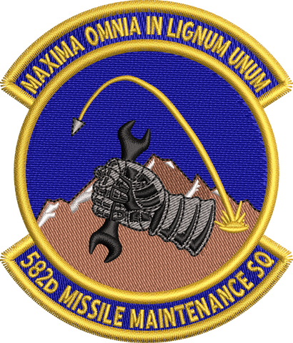 582d Missiles Maintenance Sq - Colored Patch