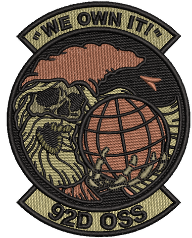 "92d Operations Support Squadron "" WE OWN IT"" - OCP BLACK"