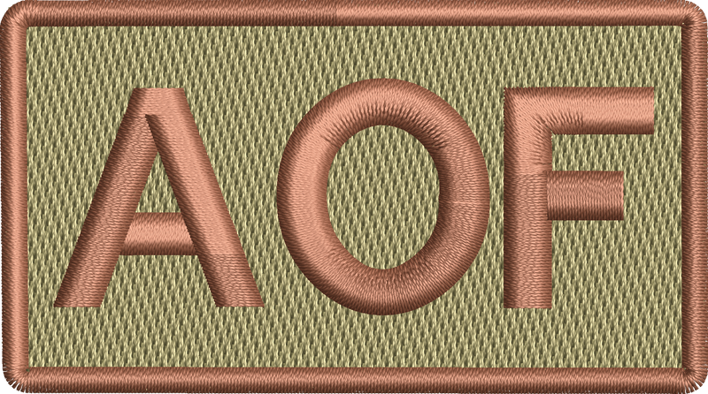 """AOF""- Left Shoulder Patch"