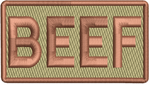 """BEEF""- Left Shoulder Patch"
