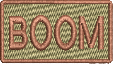 """BOOM""- Left Shoulder Patch"