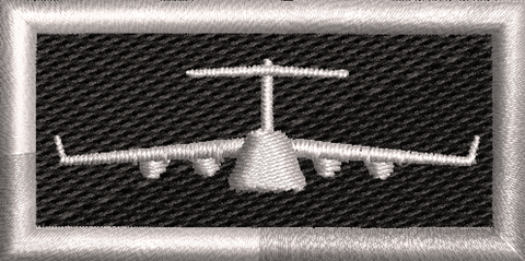 C-17 Silver and Black tab - Reaper Patches