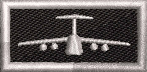 C-5 Silver and Black Tab - Reaper Patches