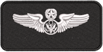 Black Name Tag Air Force Enlisted Master Aircrew - Reaper Patches
