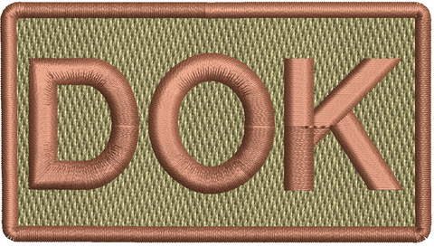 """DOK""- Left Shoulder Patch"