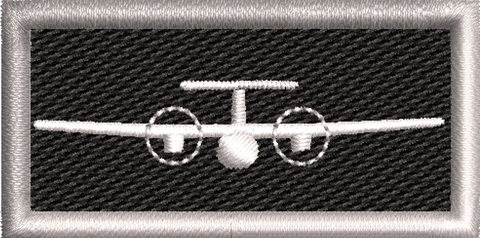 Dash-8 Silver and Black tab - Reaper Patches