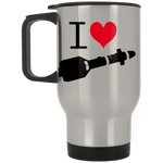 I Heart Hellfires Silver Stainless Travel Mug - Reaper Patches