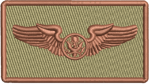 """Enlisted Aircrew Wings""- Left Shoulder Patch"