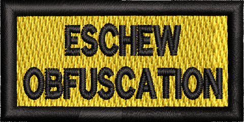 ESCHEW OBFUSCATION - Reaper Patches