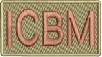 """ICBM""- Left Shoulder Patch"