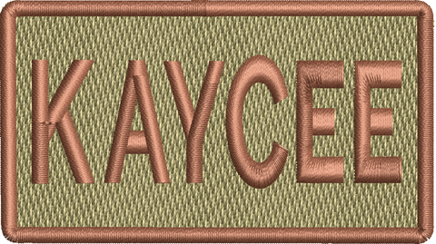 """KAYCEE""- Left Shoulder Patch"