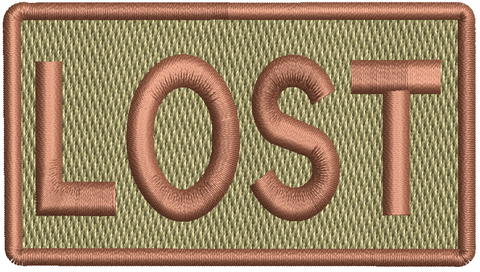 """LOST""- Left Shoulder Patch"