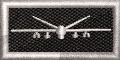MQ-9 Black and Silver Tab - Reaper Patches