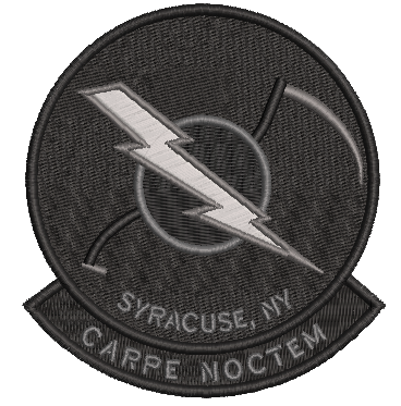 138th Attack Squadron Patch (NYANG) Blackout CARPE NOCTEM