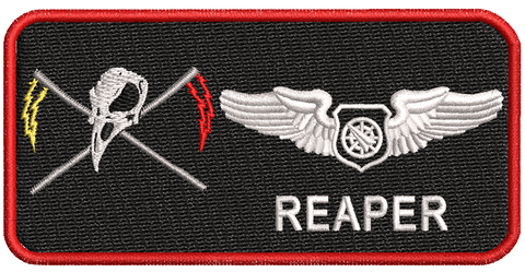 8 WPS-WIC 18B Name Tags - Reaper Patches