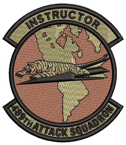 489th Attack Squadron -  Instructor OCP - Reaper Patches