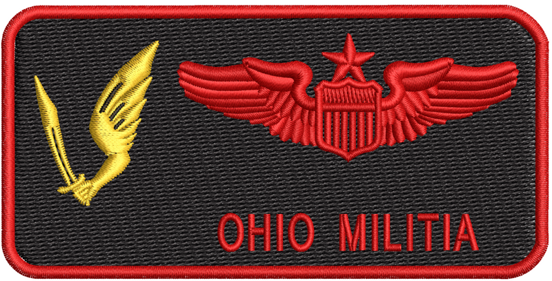 Pilot Name Tag (178th OSS) Friday - Ohio Militia - Reaper Patches