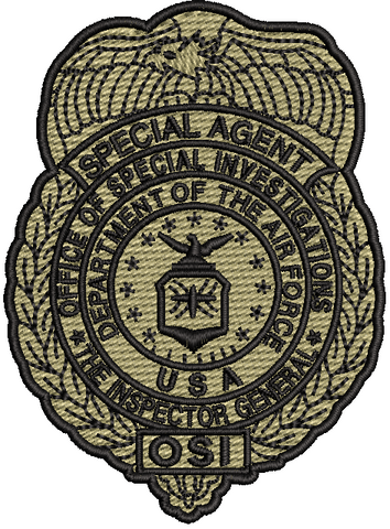 Office of Special Investigations (OSI) Badge Patch- OCP - Reaper Patches