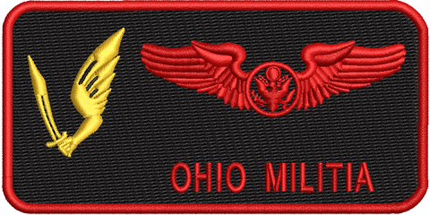 Enlisted Aircrew Wings (178 OSS) Ohio Militia - Reaper Patches