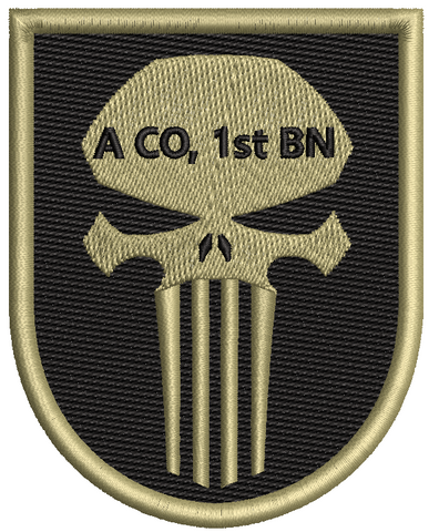 Punisher Patch A CO 1st BN - OCP