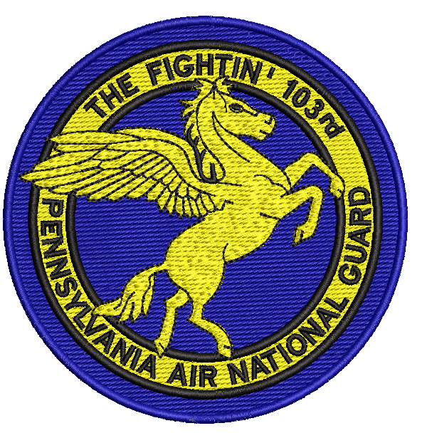 The Fightin' 103rd PA ANG - Reaper Patches