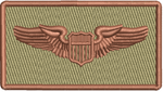 """PILOT WINGS""- Left Shoulder Patch"