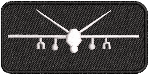 Black MQ-9 Name Tag Enlisted Master Aircrew - Reaper Patches