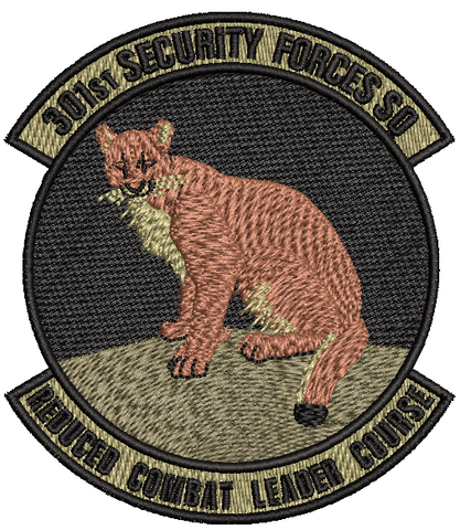 301st Security Forces Squadron - OCP (unofficial) Reduced Combat Leader Course - Reaper Patches