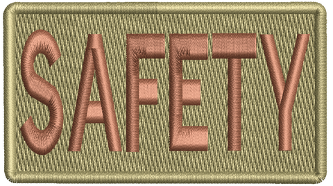 """SAFETY""- Left Shoulder Patch"