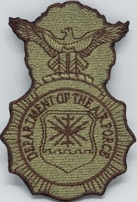 USAF Security Forces Badge - Bagby and Spice Brown - Reaper Patches