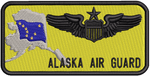 Standard Name Tag - Alaska Air National Guard W/ Leather Backing - Reaper Patches