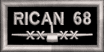 RICAN 68 Silver - Reaper Patches