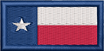 Texas Flag-Morale Tab - Reaper Patches