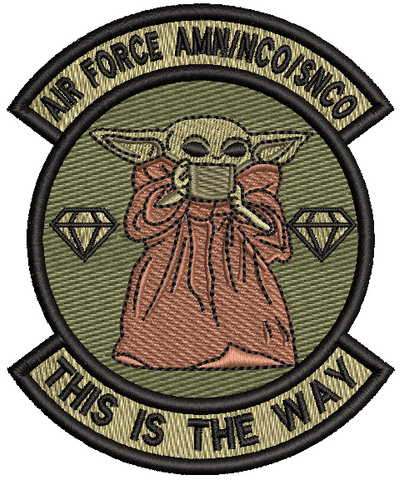 """THIS IS THE WAY"" AIR FORCE AMN/NCO/SNCO - Patch"