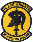 561 Black Knights Patch