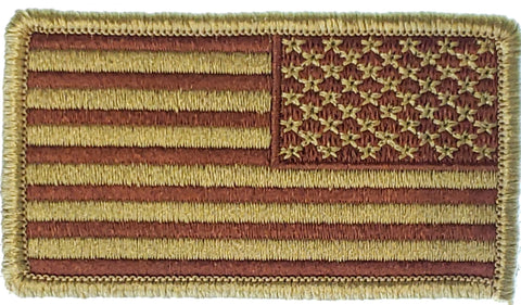 Spice Brown Reversed American Flag
