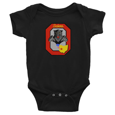 OHANG Block O Infant Bodysuit - Reaper Patches