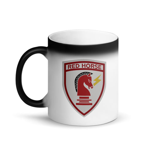 Red Horse -Matte Black Magic Mug