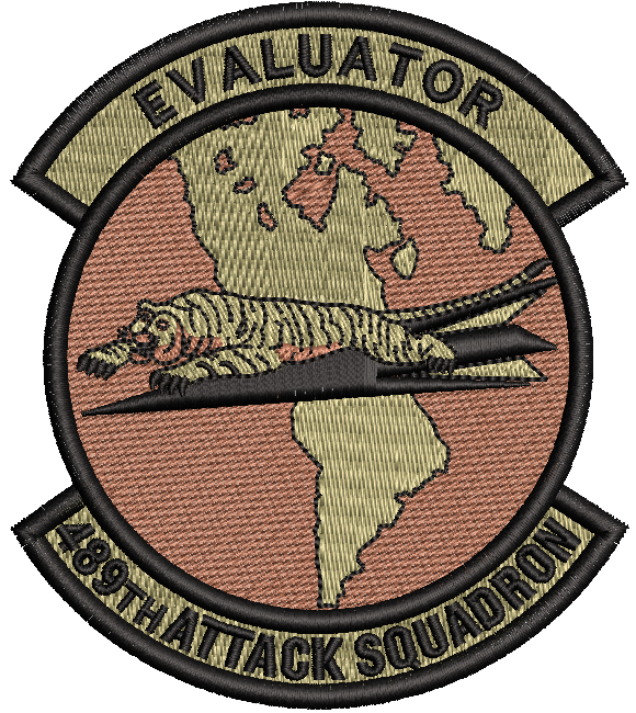 489th Attack Squadron -  Evaluator OCP - Reaper Patches