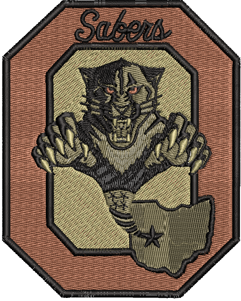 OHANG Sabers Block O Patch OCP - Reaper Patches