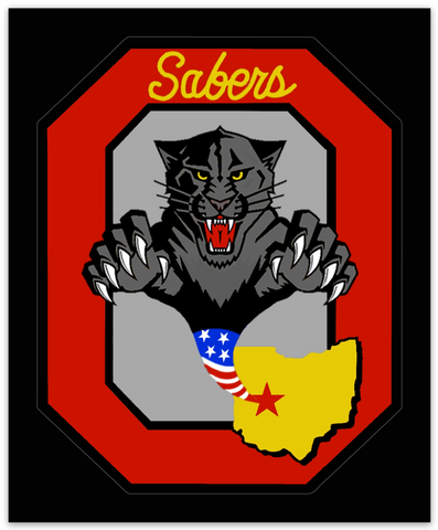 Ohio Air National Guard Sabers - Zap - Reaper Patches