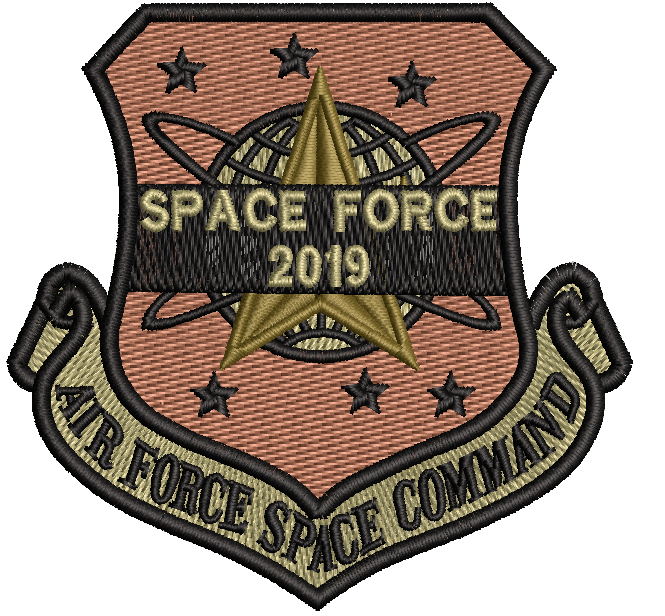 USAF SPACE COMMAND SPACE FORCE 2019