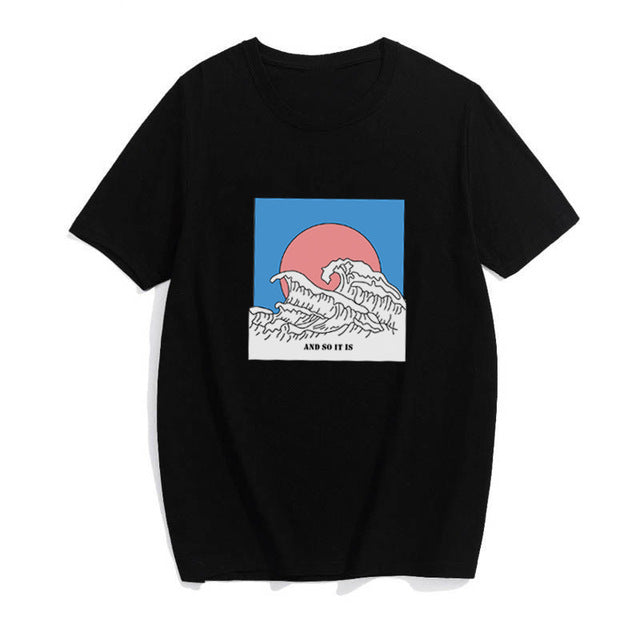 "T-SHIRT "" THE GREAT WAVE""  LOGO"