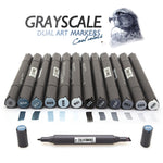 GRAYSCALE MARQUEURS -Set of 12