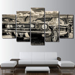 "CADRE PEINTURE ""Ford Mustang 1965"""